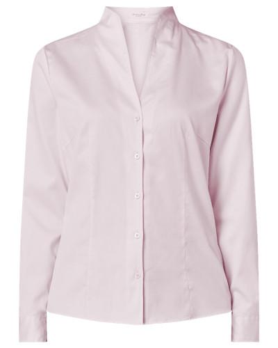 Bluse aus Baumwolle mit Kelchkragen