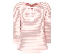 Sweatshirt mit Streifenmuster im Inside-Out-Look
