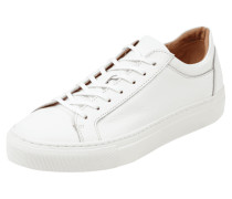 Sneaker aus Leder mit Gummisohle