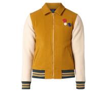 College-Jacke aus Wollmischung