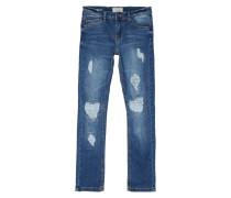 Slim Fit Jeans im Destroyed & Repaired Look