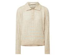Pullover mit Zopfmuster Modell 'Safari'