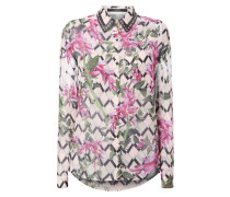 Bluse mit floralem Allover-Muster