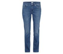 Stone Washed Jeans mit Ziersteinbesatz