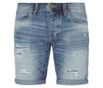 Regular Fit Jeansbermudas im Destroyed Look