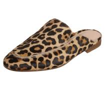 Slip-On Loafer aus Leder mit Fellbesatz