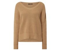 Oversized Pullover aus Baumwollmischung