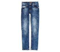 Skinny Fit Acid Washed 5-Pocket-Jeans