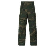 Relaxed Fit Cargohose mit Camouflage-Muster