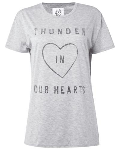 T-Shirt mit Message-Print im Vintage Look