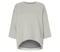 Vokuhila Sweatshirt mit überschnittenen Schultern