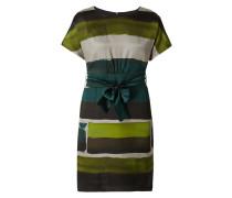 Kleid aus Seide mit Blockstreifen