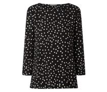 Blusenshirt aus Viskose mit Punktmuster Modell 'Chieti'