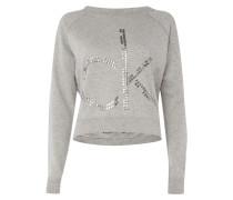 Cropped Sweatshirt mit dekorativem Pilling-Effekt