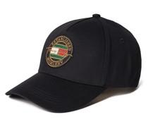 Basecap aus Baumwolle mit Logo-Details
