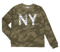 Sweatshirt mit Schriftzug aus Wende-Pailletten