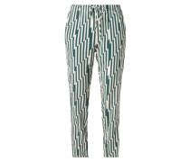 Hose aus Seide mit Allover-Muster