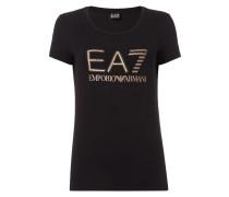 T-Shirt mit glitzerndem Logo-Print