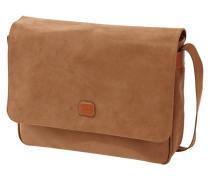 Messenger Bag mit Lederbesatz