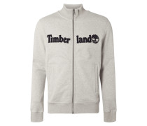 Sweatjacke mit Logo-Applikation