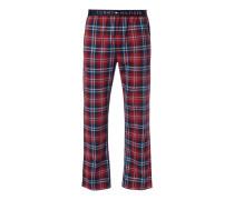 Pyjamahose mit Tartan-Karo