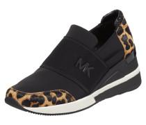 Slip-On Sneaker mit Einsätzen aus Fell