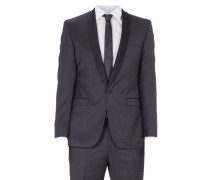 Anzug mit 2-Knopf-Sakko und Satinbesatz