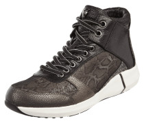 High Top Sneaker in Snake-Optik