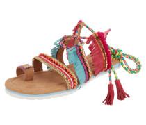 Sandalen mit Fransenbesatz