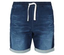 Straight Fit Shorts aus Sweat Denim