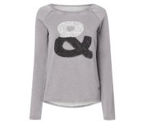 Sweatshirt mit Icon aus Pailletten