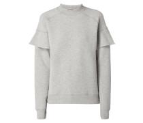 Sweatshirt mit Volantbesatz