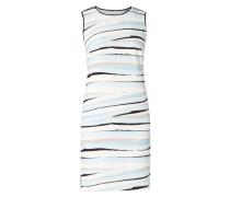 Kleid mit künstlerischem Streifenmuster