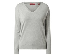 Pullover aus Viskose-Baumwoll-Mix