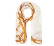 Schal aus Wolle mit Zaumzeugmuster