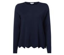 Pullover mit gewelltem Saum