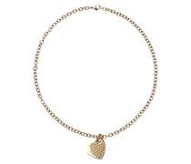 Halskette aus Edelstahl mit Herz-Anhänger