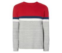 Pullover in dreifarbigem Design