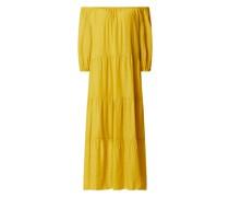 Off-Shoulder-Kleid mit Seide-Anteil