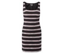 Kleid mit strukturiertem Streifenmuster