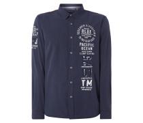 Modern Fit Freizeithemd mit Logo-Details