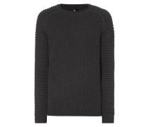 Pullover mit gerippten Raglanärmeln