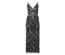 Abendkleid mit Muster aus Pailletten