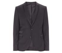 Slim Fit Smoking-Jacke mit Satinbesatz