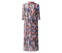 Kleid aus Chiffon mit plissiertem Rockteil Modell 'Keplissy'