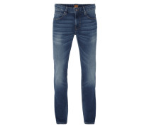 Slim Fit Jeans im Stone Washed-Look