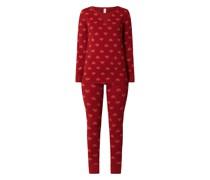 Pyjama mit Herzchenmuster