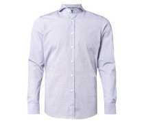 Slim Fit Business-Hemd mit grafischem Muster