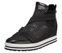 High Top Sneaker aus Mesh und Leder