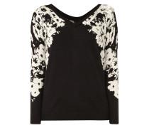 Pullover mit floralem Besatz